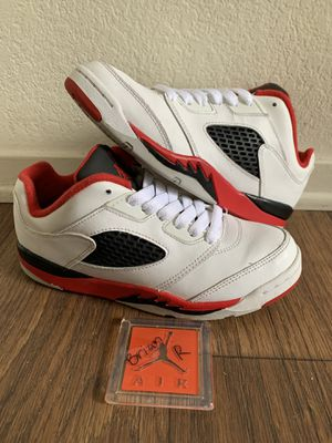 Air Jordan Retro 5 Fire Red Lows Size 2.5Y for Sale in Fresno, CA