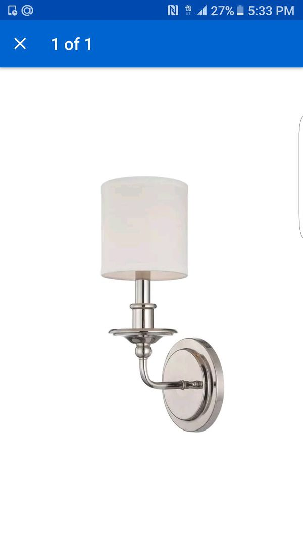 Savoy House Aubree 1 Light Sconce in Polished Nickel 1170