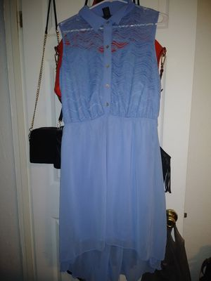 Lace blue dress L for Sale in Monroe, MI