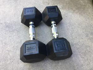 Pair of 20lb dumbbells for Sale in Aurora, CO