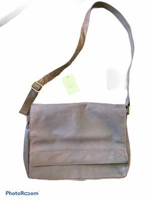 LEATHER ESTALON GENUINE LUXURY BRAND • laptop bag backpack messenger bag slung NEW WITH TAGS!!!! $150 originally for Sale in Irvine, CA