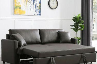 Rebecca Brown PU Sleeper Sofa VENDOR MYCO for Sale in Houston,  TX