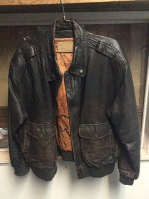 Leather bomber style motorcycle jacket XL for Sale in Fullerton, CA