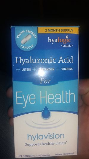 Hyaluronic Acid for Eye Health hylavosion supports healthy vision 120 capsules dietary supplement! $5 firm for Sale in Tucson, AZ