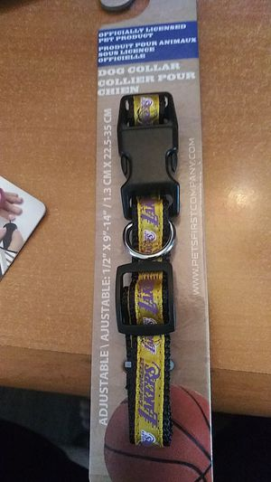 Lakers dog collar for Sale in Ontario, CA