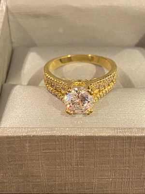 18K Gold plated Solitaire Ring- Code DB51 for Sale in Sacramento, CA