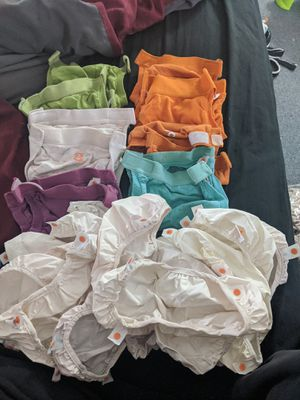 9 small g diaper cloth diapers and 15 liners for Sale in Virginia Beach, VA