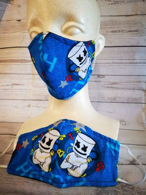 Adult Face mask (marshmello fortnite): Hand made mask, reversible, reusable, washer and dryer safe. for Sale in Long Beach, CA