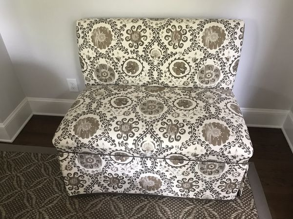 Two upholstered settees