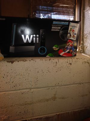 Selling my mario kart wii+wii wheel TM for Sale in Manassas, VA