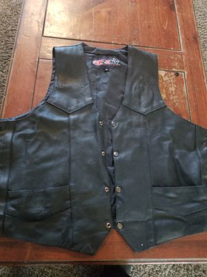 Leather motorcycle vest for Sale in Mesa, AZ
