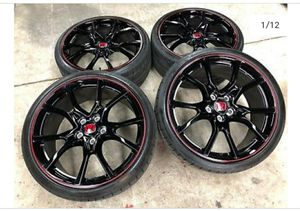 2019 civic type R rims with very good stock tires for Sale in Huntington Beach, CA