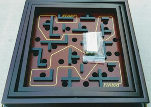 Wood labyrinth classic marble maze board game for Sale in San Mateo, CA