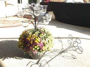 Iron and glass Candle Holder for Sale in Riverside, CA