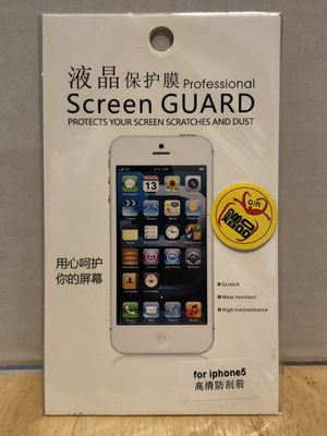 Screen Guard for iPhone 5 for Sale in San Diego, CA