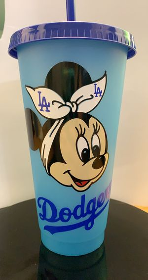 Minnie Mouse Dodgers color changing cup for Sale in Redondo Beach, CA