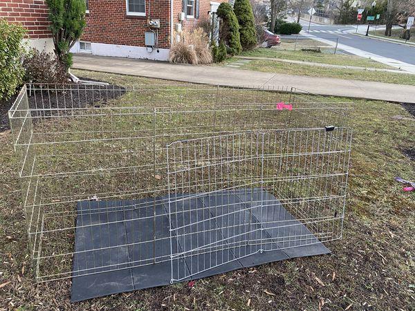 Large metal animal crate