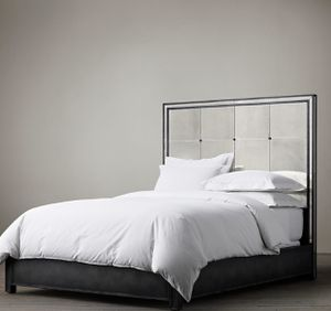 Restoration Hardware Strand Mirrored Bed Frame Queen for Sale in Los Angeles, CA