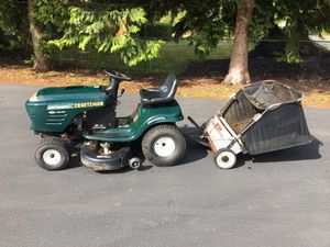 Craftsman garden tractor with sweeper for Sale in Tacoma, WA