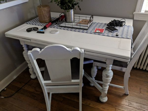 Free dining table and 2 chairs