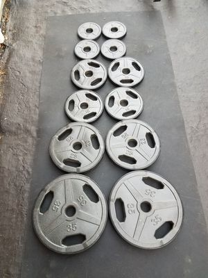 Olympic Weight Plates Set 180 Pounds for Sale in Naperville, IL