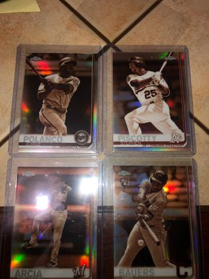(4) Topps Chrome Sepia Baseball Cards for Sale in De Smet, ID
