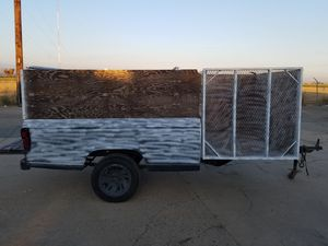 Utility tráiler ready ,5x4x11, new lights, nice tires. No title or registration for Sale in Cutler, CA