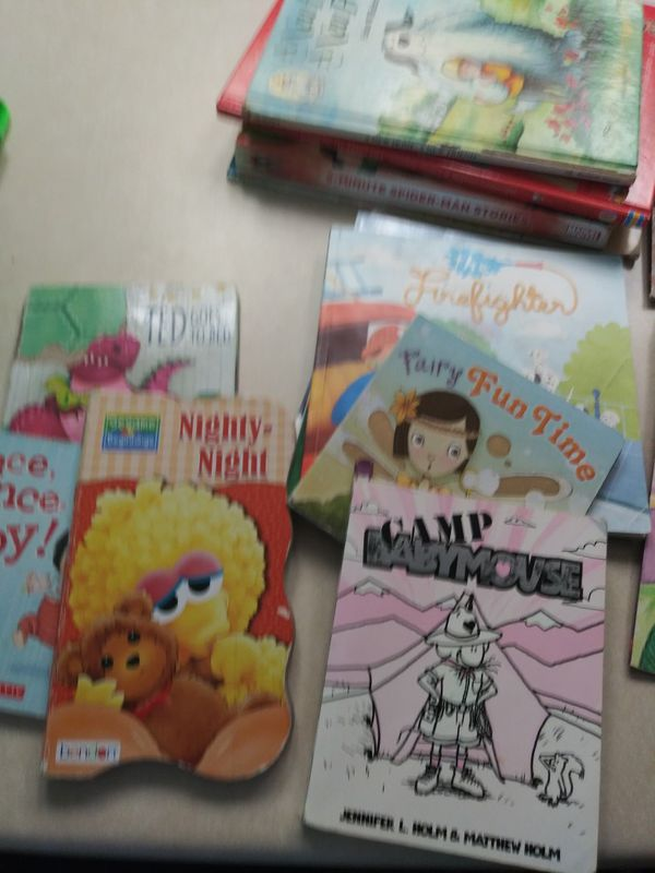 Children's Books DVDs and DVD player lot