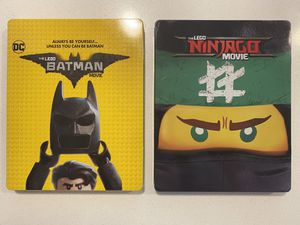 Lego Batman and Ninjago Bluray Dvd Steelbook set for Sale in Aurora, CO