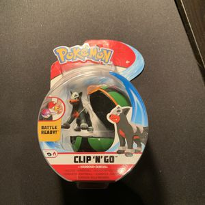 Pokemon Clip N Go HOUNDOUR & DUSK BALL Figure 2020 Battle Ready! *New & Sealed* for Sale in Springfield, PA