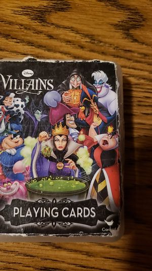 Disney villains playing cards for Sale in Florence, KY
