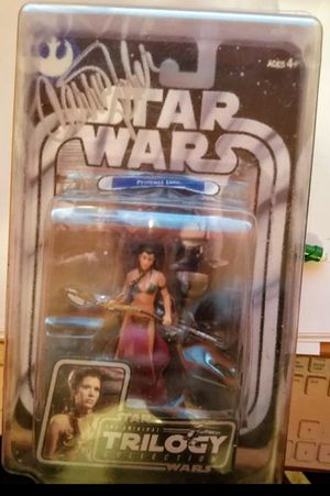 Signed Princess Leia Trilogy Collection Action Figure COA for Sale in Columbus, OH