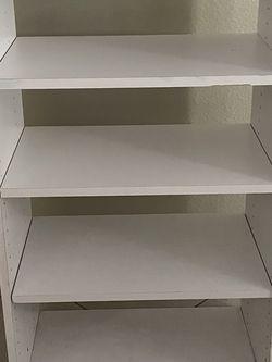 White Closet Organizer Shelve Or Laundry Room for Sale in Wildomar,  CA