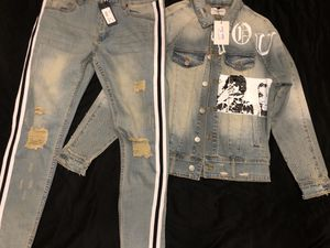 "Brand new denim jacket and jeans ""unworn"" for Sale in Seattle, WA"
