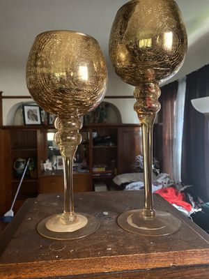 Gold Decor glass cups for Sale in Milwaukee, WI