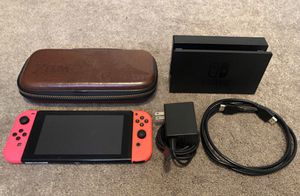 Nintendo Switch Console Bundle With Joy Cons Dock and All Cables Zelda BOTW Case Good Condition System for Sale in Riverside, CA