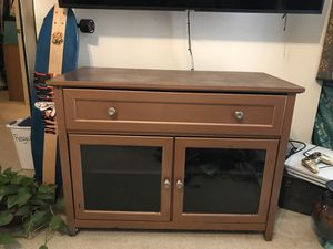 Brown Wooden Entertainment Center for Sale in Denver, CO