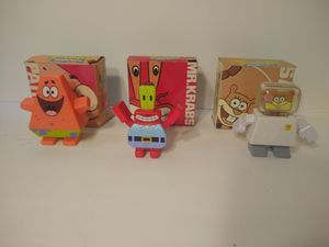 2009 Spongebob Squarepants Cube Figure Toys From Burger King Patrick, Mr. Krabs, and Sandy for Sale in Los Angeles, CA