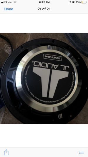 JL Audio 10W1v3-4: 10 inch Subwoofer Driver with pair of speakers for Sale in Houston, TX