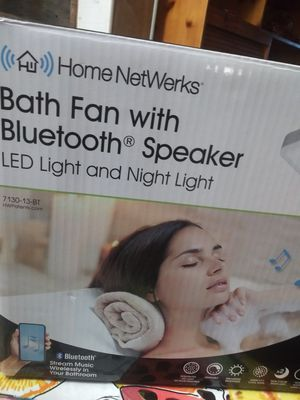 Bath fan with Bluetooth speaker and led Night Lights for Sale in Lakeland, FL