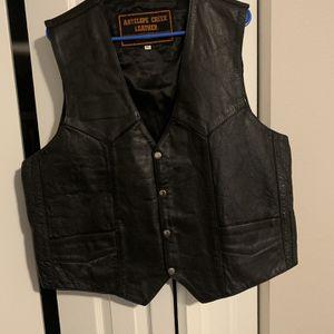 Leather Vest Size Large for Sale in Denver, CO