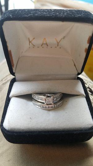 Kay's wedding ring set 2 karrot total 14k white gold for Sale in Haines City, FL
