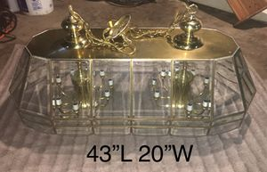 Gold-framed pool table lamp for Sale in Cahokia, IL