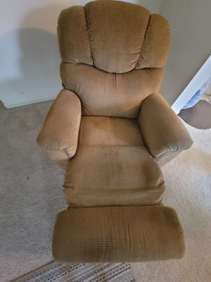 Manual Beige Recliner for Sale in Annandale, VA