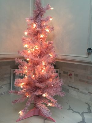 3' Pink Christmas Tree Pre Lit for Sale in Henderson, NV