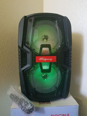 Ridgeway trolley speaker. Batter and charged indicator, memory card slot, FM radio, LED lights, AUX in. Bluetooth, for Sale in Phoenix, AZ