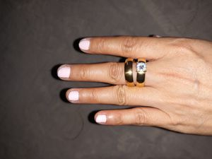 18 K Yellow Gold Plated Set CZ Engagement /Wedding Ring, Size 9. for Sale in Dallas, TX