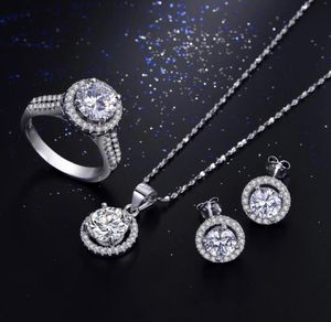 New 18 k white gold necklace earrings and ring for Sale in Sunrise, FL