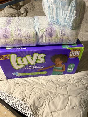 New box of luvs and 1package and half for Sale in Westminster, CO