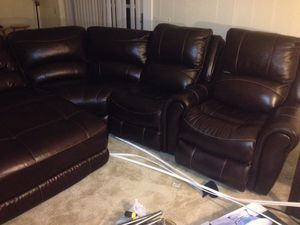 Leather sectional Couch for Sale in Woodbridge, VA